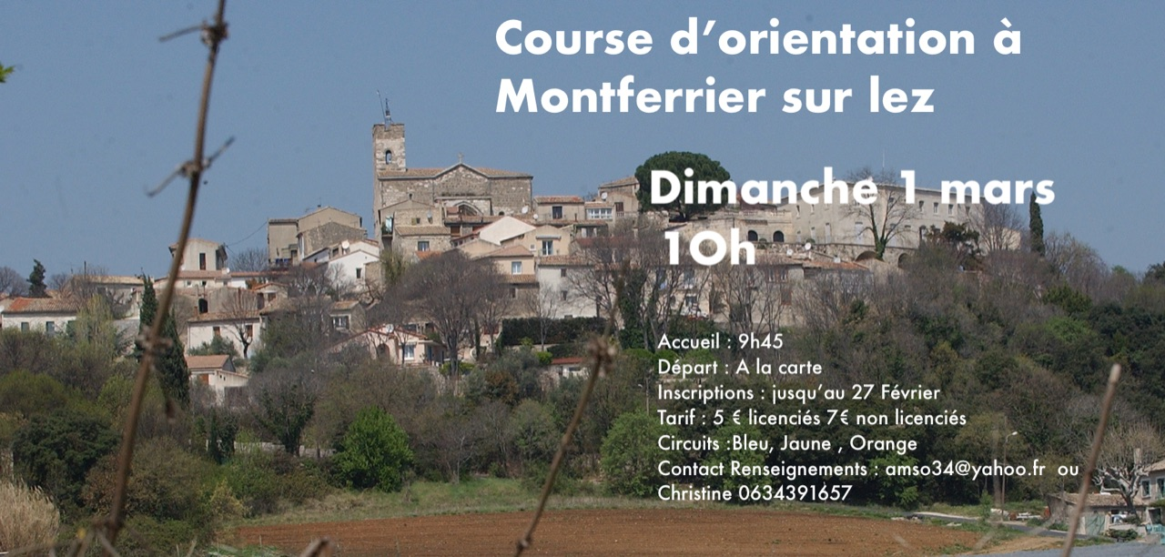 Course à Montferrier le 1 mars 2020